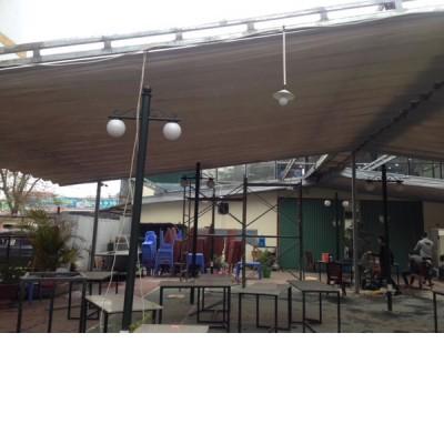 Mái xếp di động nhà hàng MXPT-NH001